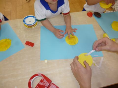 4月 2歳児 製作「たんぽぽ」